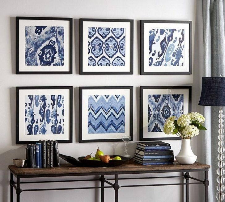 Wall Decor Framed Art – Tehno Art With Blue Fabric Wall Art (View 6 of 15)