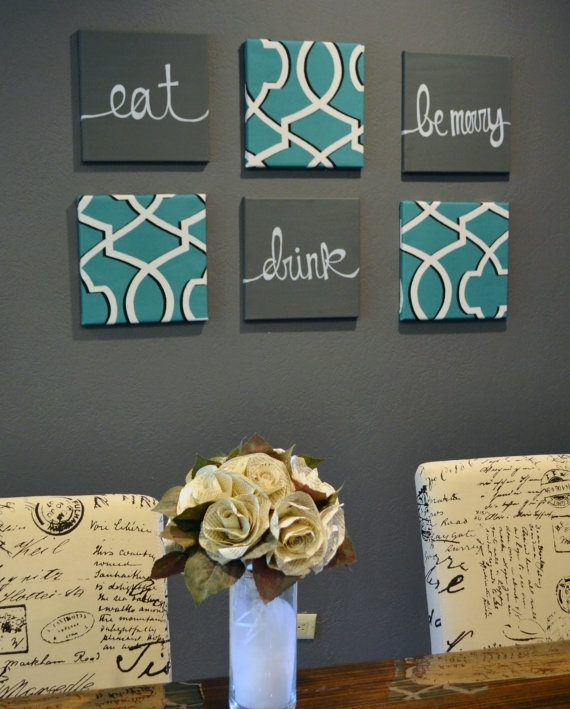 Wall Decor: Kitchen Eat Drink And Be Merry Wall Decor Eat Drink With Regard To Eat Canvas Wall Art (Image 15 of 15)