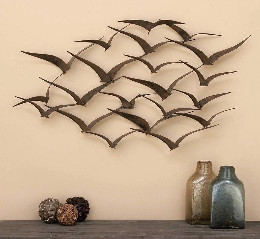 Wall Decor Metal Sculpture Ginkgo Breeze Metal Wall Sculpture Pertaining To Kingdom Abstract Metal Wall Art (View 11 of 15)