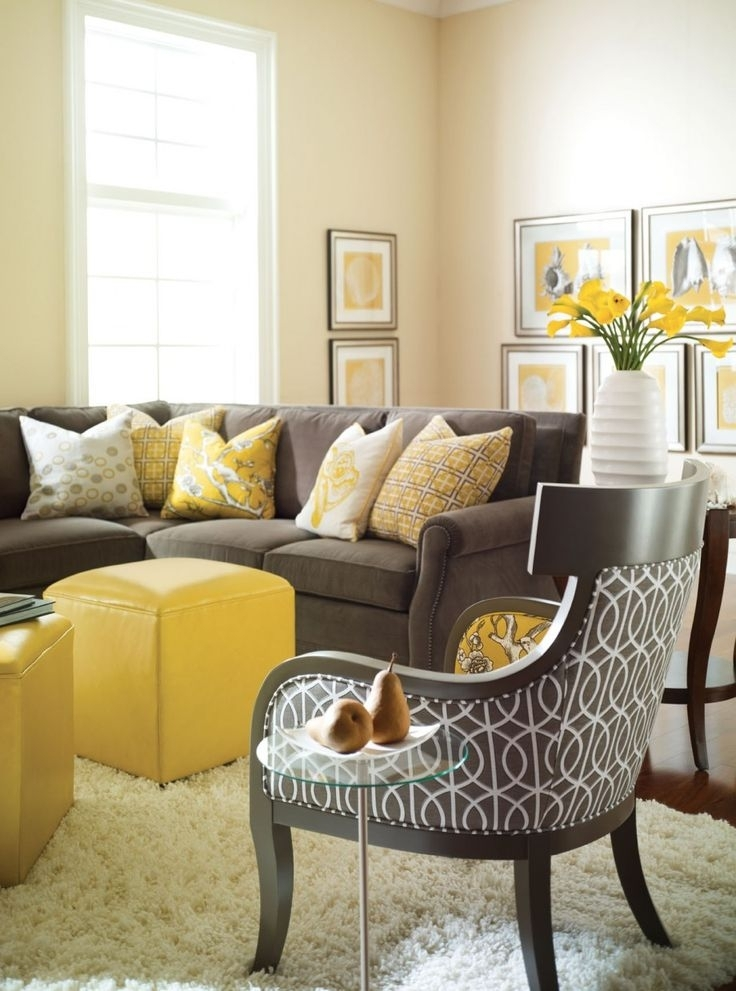 Wall Decor: Nice Decorating With Yellow Walls Living Room What In Wall Accents For Yellow Room (Image 12 of 15)
