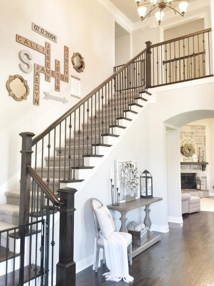 Wall Decor: Stairs Wall Decoration Ideas Contemporary Traditional With Staircase Wall Accents (Image 14 of 15)