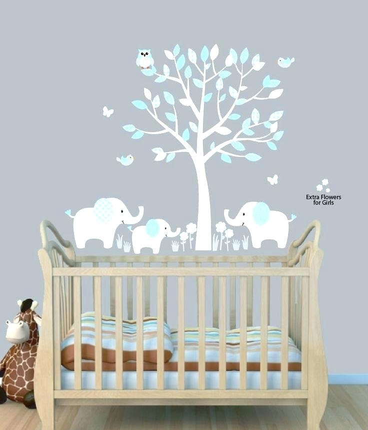 Wall Decor Trees Vinyl Wall Decals Trees Wall Sticker Baby Nursery Inside Vinyl Wall Accents (Image 13 of 15)