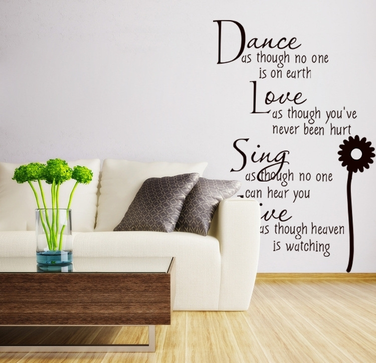 Wall Decor Words | Room Ornament With Removable Wall Accents (Image 15 of 15)