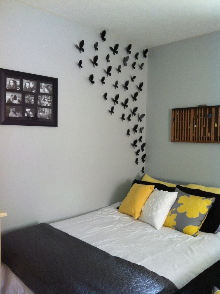 Wall Decorating Ideas For Bedrooms Fair Design Ideas Wall Intended For Wall Accents For Bedroom (Image 14 of 15)