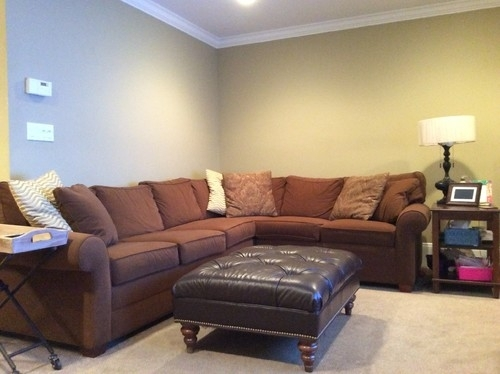 Wall Decorations Above L Shaped Sectional Couch Pertaining To Wall Accents For L Shaped Room (View 4 of 15)