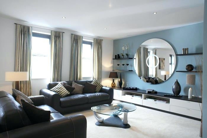 Wall Mirrors ~ Decorative Accent Wall Mirrors Living Room Design Pertaining To Blue Wall Accents (Image 15 of 15)