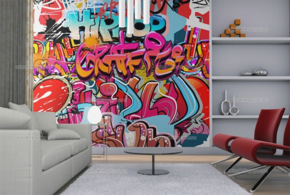 Wall Murals Graffiti Music Canvas Prints Posters – Lentine Marine For Graffiti Canvas Wall Art (Image 14 of 15)