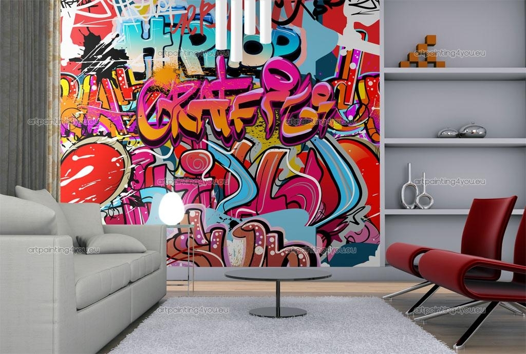 Wall Murals Graffiti Music Canvas Prints Posters – Lentine Marine Throughout Murals Canvas Wall Art (View 13 of 15)