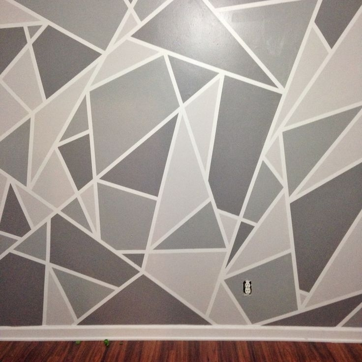 Wall Paint Patterns Pinterest Painting Bedroom – Tierra Este | #90603 Regarding Geometric Shapes Wall Accents (View 8 of 15)