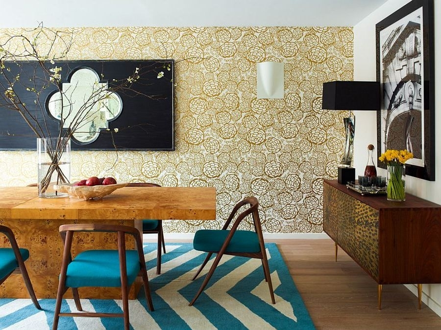 Wallpaper Accent Wall Dining Room – Grousedays Throughout Wallpaper Living Room Wall Accents (View 12 of 15)