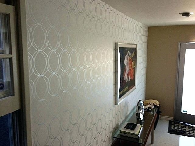 Wallpaper As Accent Wall Accent Wall Contemporarymajestic Within Wallpaper Wall Accents (View 8 of 15)