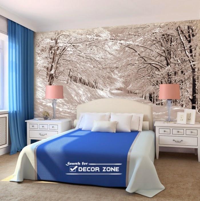 Wallpaper For Bedroom Walls Designs Bedroom Wall Designs Within Wallpaper Bedroom Wall Accents (Image 15 of 15)