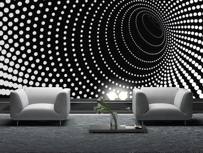 Wallpaper Mural Photo Black Abstract Giant Wall Decor Paper Poster In Wallpaper Wall Accents (Image 15 of 15)