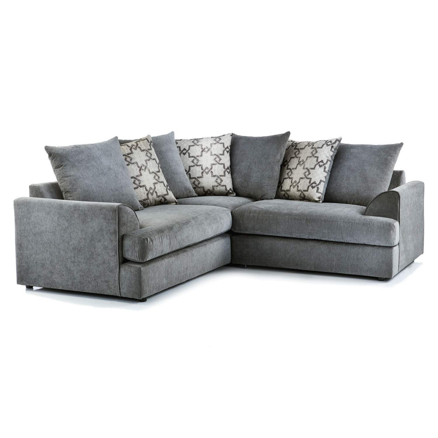 Washington Fabric Corner Sofa In Charcoal | Just Sit On It Throughout Fabric Corner Sofas (View 4 of 10)