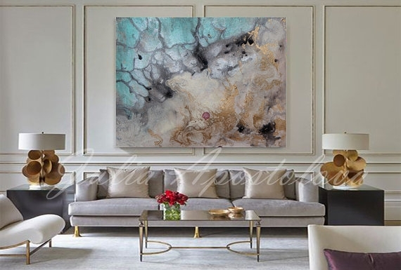 Water Color Painting Art Print Abstract Watercolor Large In Abstract Nautical Wall Art (View 11 of 15)