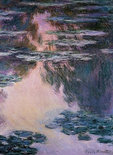 Water Lilies Oil Paintingclaude Monet Canvas Wall Art Famous Pertaining To Monet Canvas Wall Art (Image 15 of 15)