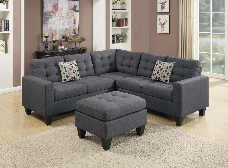 Wayfair, Ifin1022, Amazon, Poundex, F6935, Grey, Sectional, Sofa Inside Wayfair Sectional Sofas (Image 10 of 10)
