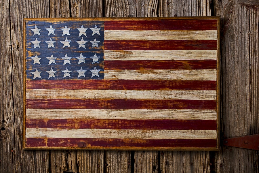 Well Suited Ideas American Flag Wall Decor Together With Wooden On For American Flag Fabric Wall Art (Image 14 of 15)