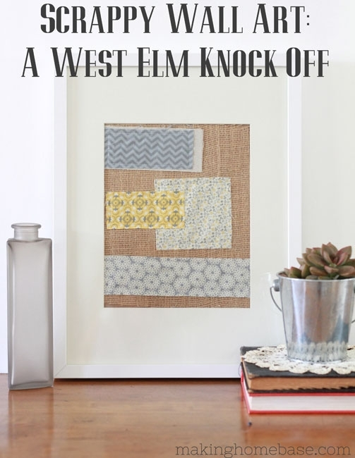 West Elm Knock Off Wall Art Pertaining To Fabric Scrap Wall Art (Image 15 of 15)