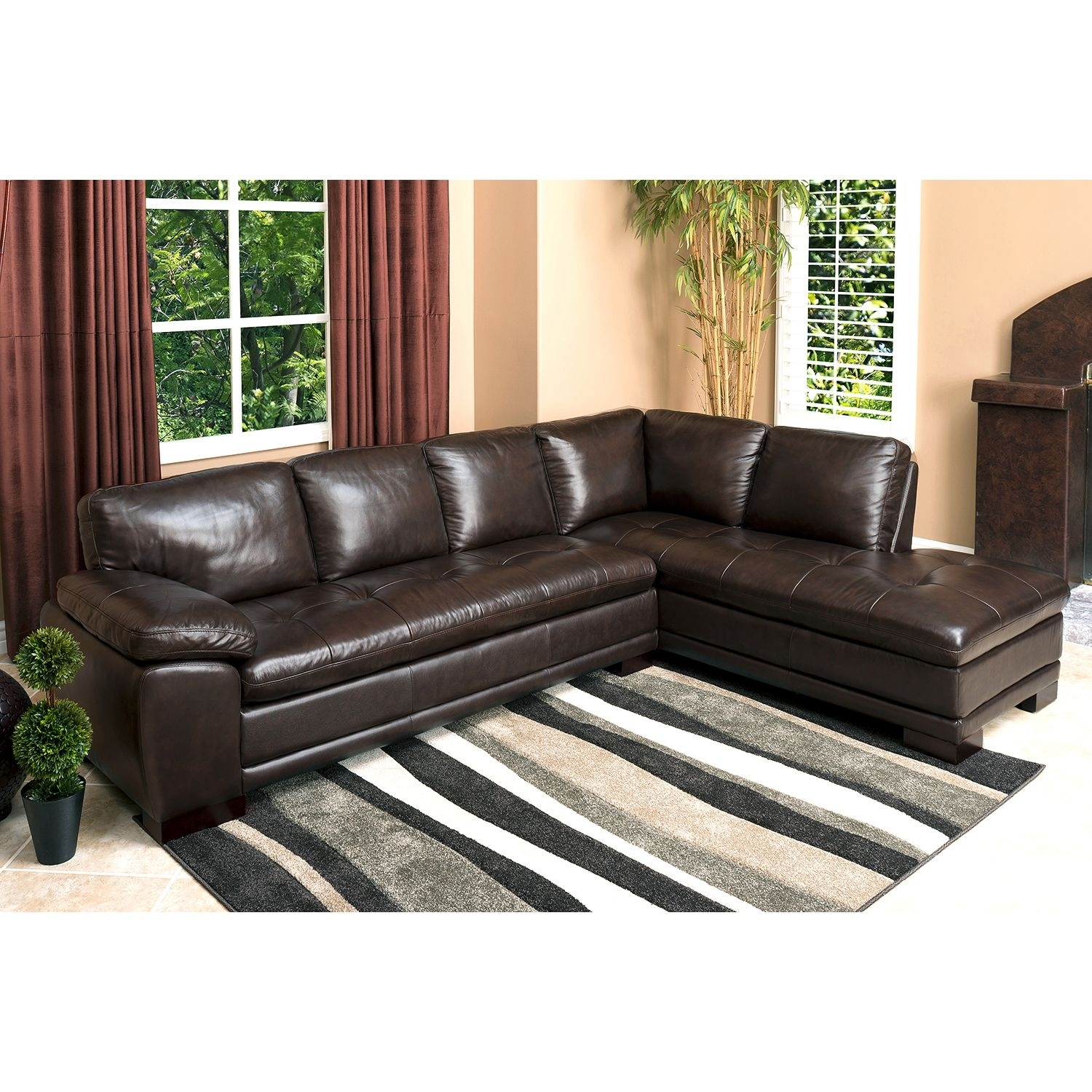 Westbury Top Grain Leather Sectional – Sam's Club | Sectionals With Regard To Sams Club Sectional Sofas (View 5 of 10)