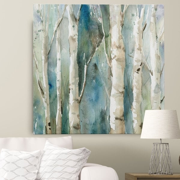 Wexford Home Carol Robinson 'river Birch I' Canvas Wall Art – Free Pertaining To Birch Trees Canvas Wall Art (Image 14 of 15)