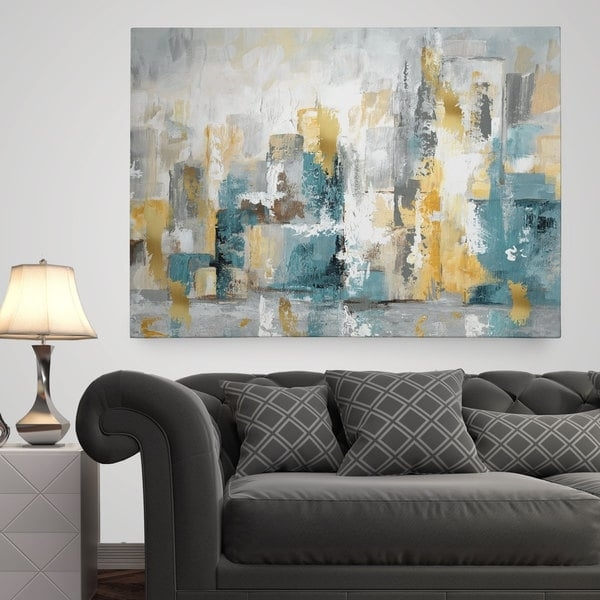 Wexford Home 'city Views I' Premium Gallery Wrapped Canvas Wall With Overstock Abstract Wall Art (Image 15 of 15)