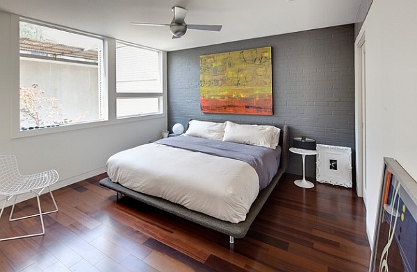 What Color Is The Dark Grey Accent Wall Inside Gray Idea 16 Intended For Gray Wall Accents (View 10 of 15)