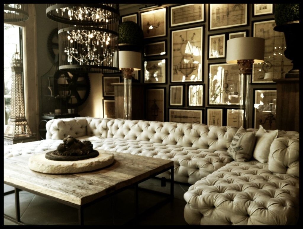 When Classic Meets Modernity : Tufted Upholstered Sectional Sofa With Regard To Tufted Sectional Sofas (Image 10 of 10)