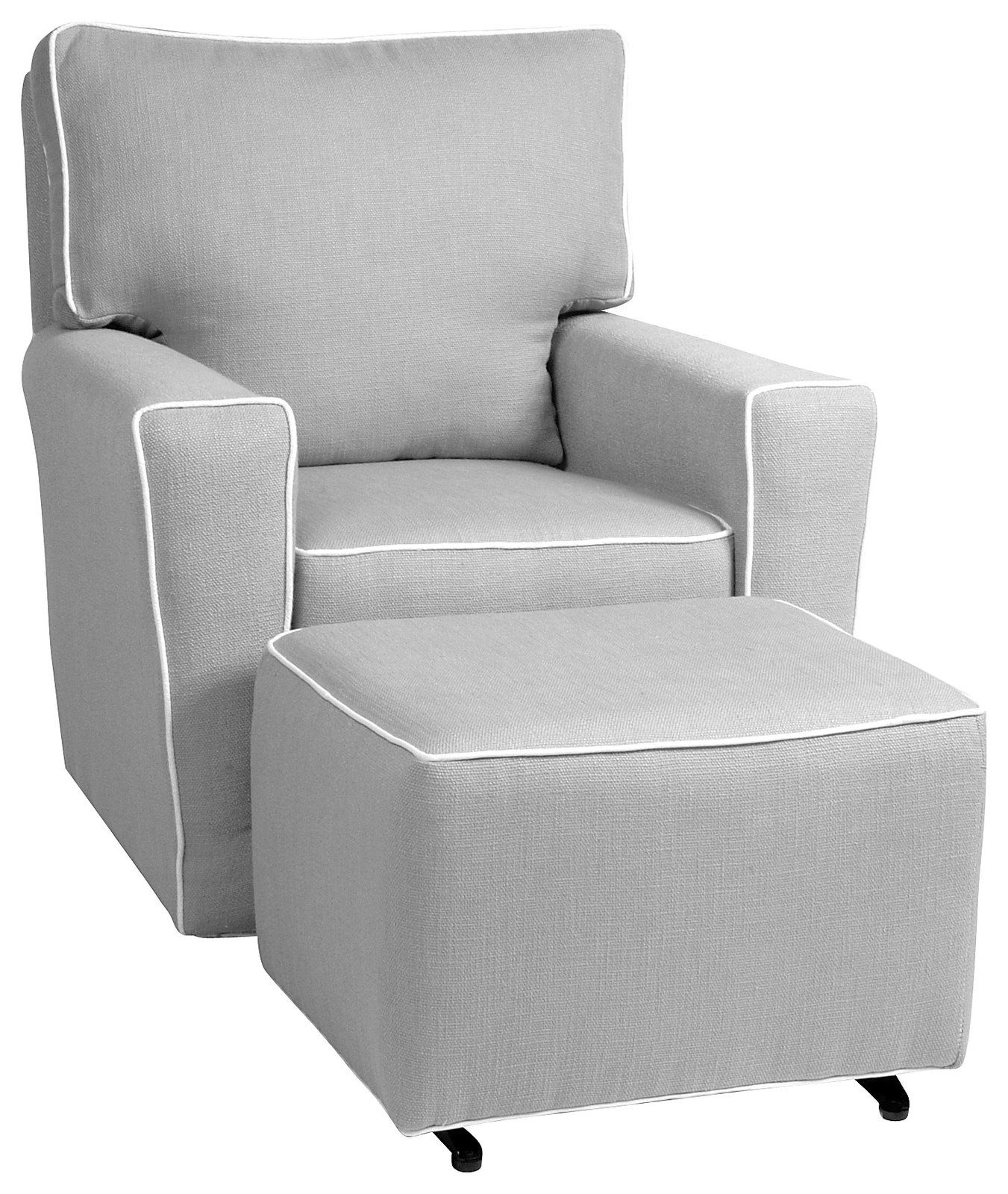 White Castle Glider | Little Castle Monaco Ii Glider – Pebble Grey W Throughout Gliders With Ottoman (View 5 of 10)