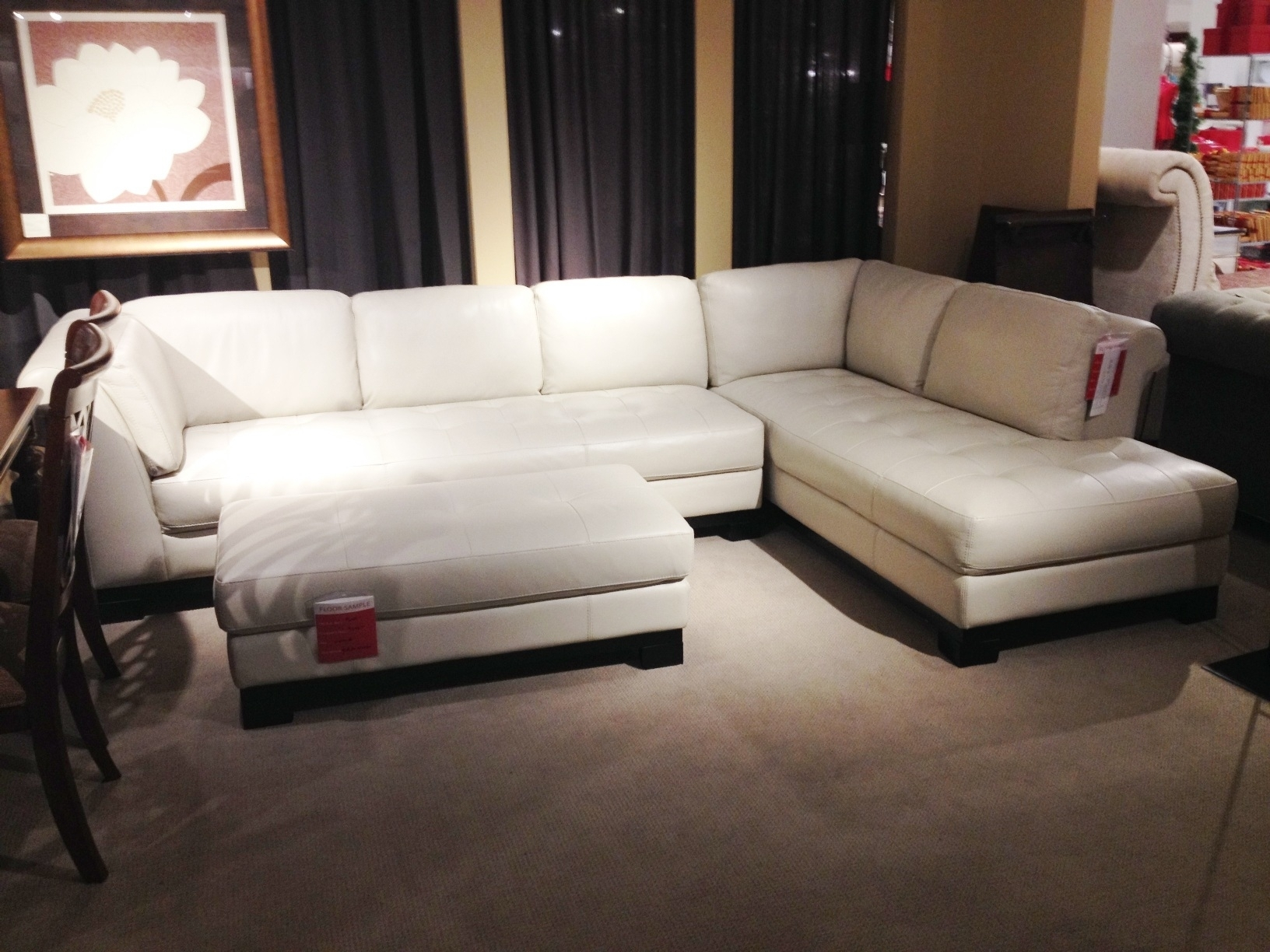 White Leather Sectional Sofa Macy's • Leather Sofa Pertaining To Macys Sectional Sofas (Image 10 of 10)