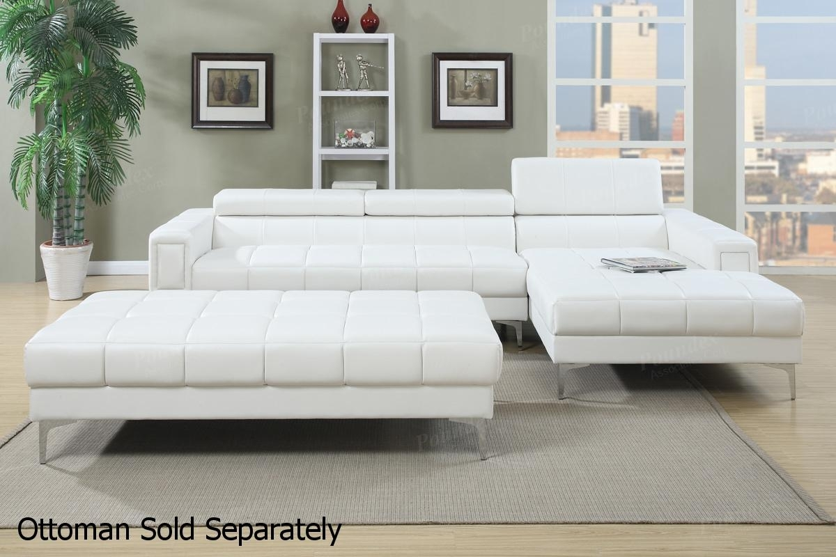White Leather Sectional Sofa – Steal A Sofa Furniture Outlet Los With Regard To White Sectional Sofas (Image 7 of 10)
