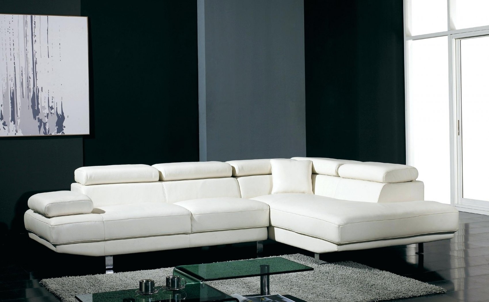 White Sectional Couches (Image 9 of 10)