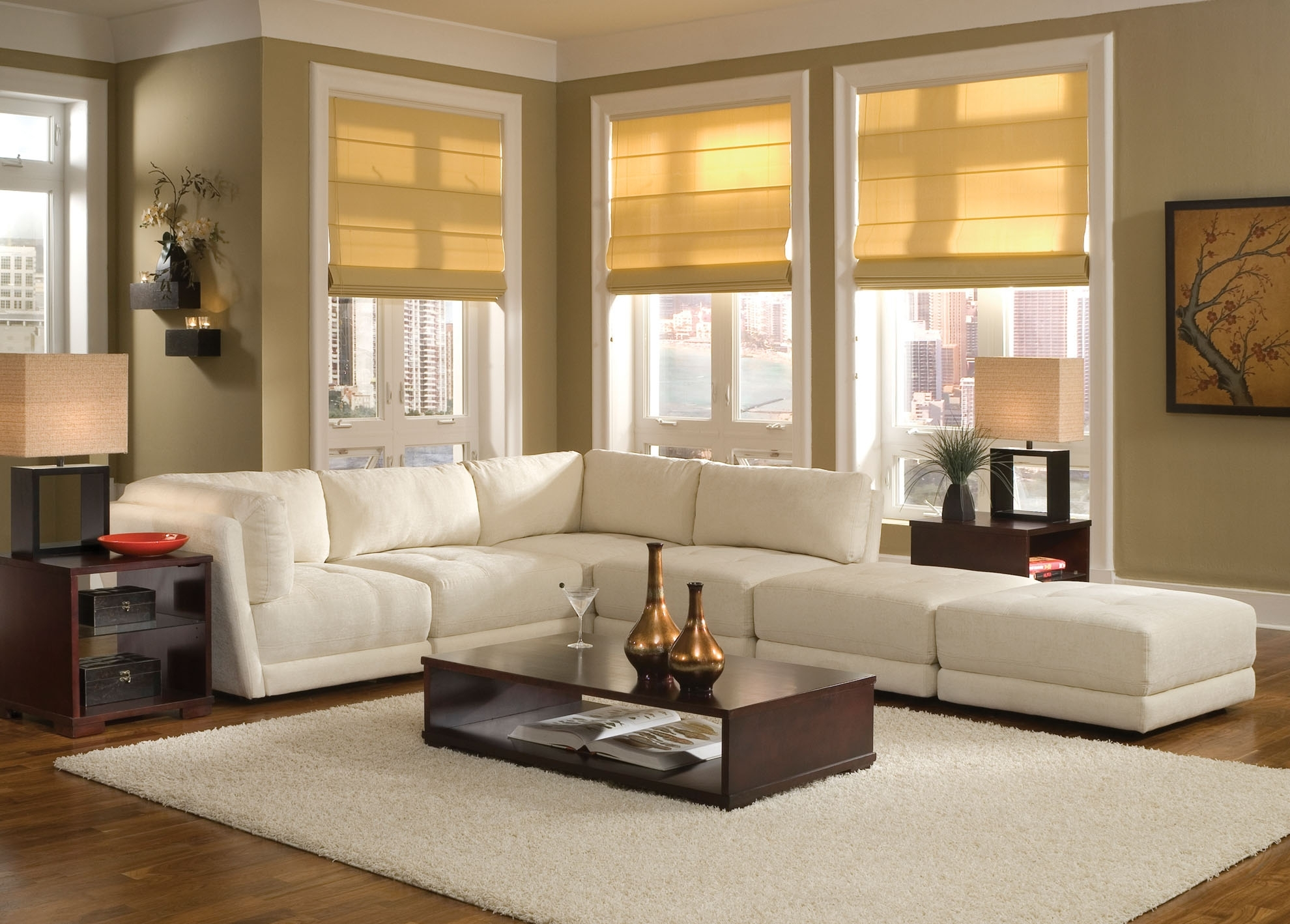 White Sofa Design Ideas & Pictures For Living Room Pertaining To Sectional Sofas Decorating (View 10 of 10)