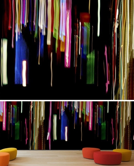 Whole Wall Art: Abstract Digital Pattern Wallpaper Textiles In Abstract Textile Wall Art (Image 15 of 15)