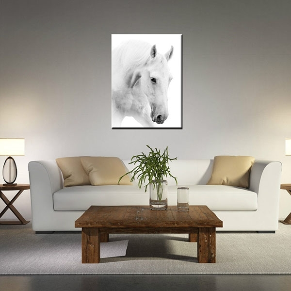 Wholesale 100% Original Canvas Prints For Living Room White Horse With Cape Town Canvas Wall Art (View 12 of 15)
