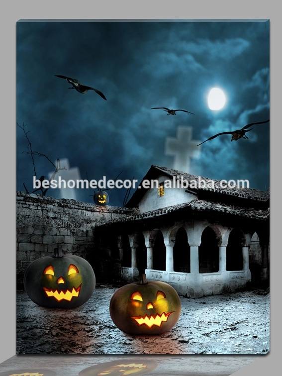 Wholesale Canvas Led Candle Prints – Online Buy Best Canvas Led With Halloween Led Canvas Wall Art (View 15 of 15)