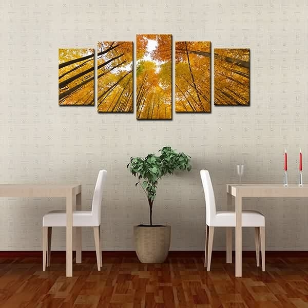 Wholesale Dealers Of Framed Canvas Prints High Trunk Yellow Woods In Leadgate Canvas Wall Art (Image 13 of 15)