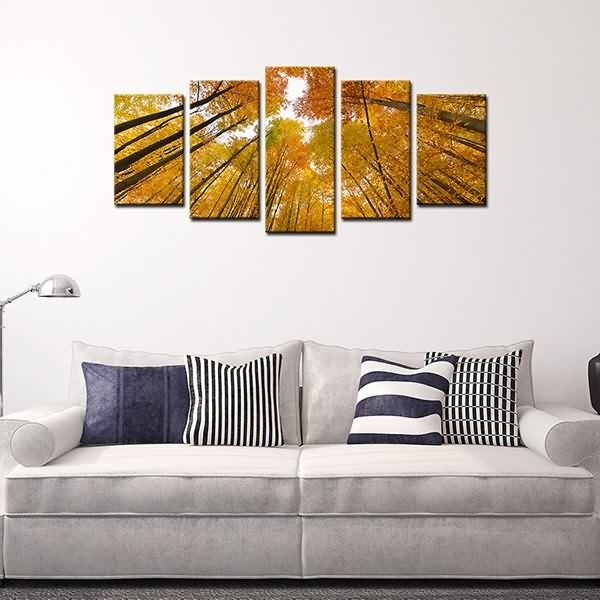 Wholesale Dealers Of Framed Canvas Prints High Trunk Yellow Woods With Regard To Leadgate Canvas Wall Art (View 3 of 15)