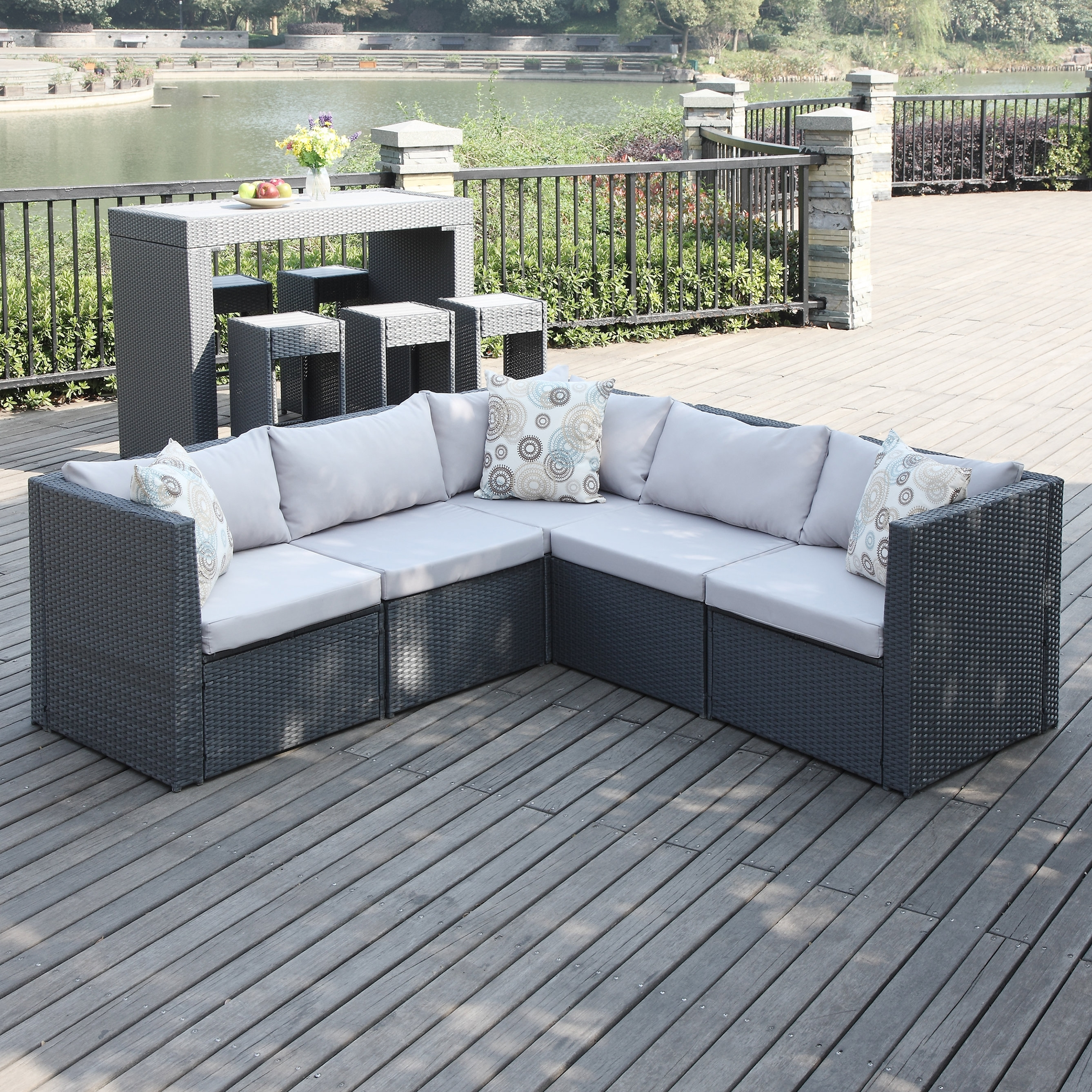 Wicker Patio Sofas & Loveseats You'll Love | Wayfair For Patio Sofas (Image 10 of 10)