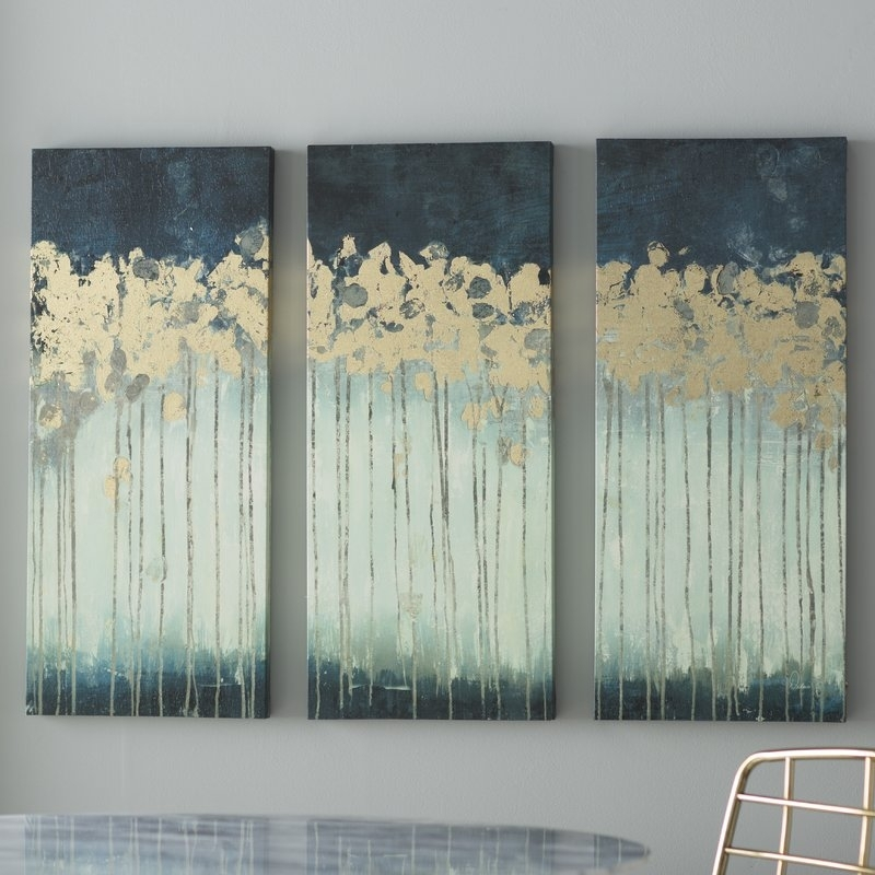 Willa Arlo Interiors 'midnight Forest' Gel Coat Canvas Wall Art With Embellished Canvas Wall Art (Image 14 of 15)