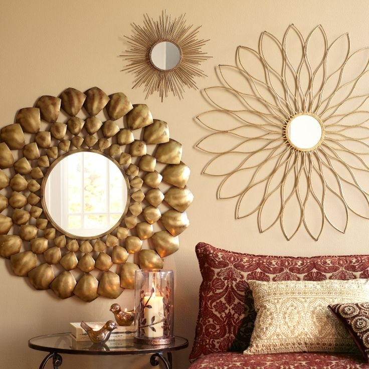 Window Mirror Wall Decor – Wall Mirror Decor Ideas – Whalescanada For Gold Wall Accents (View 8 of 15)