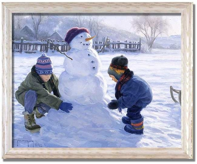 Winter Monumentrobert Duncan Snowman – Framed Art Print At Pertaining To Robert Duncan Framed Art Prints (Image 15 of 15)