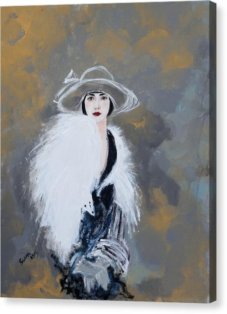 Woman Canvas Prints | Fine Art America Inside Framed Comic Art Prints (Image 14 of 15)