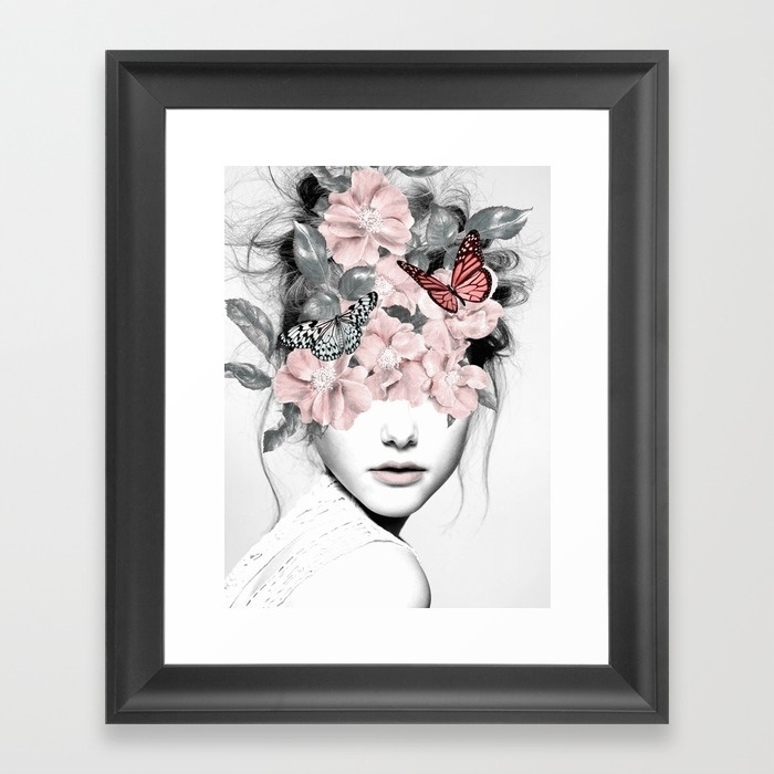 Woman With Flowers 10 Framed Art Printdada22 | Society6 Throughout Framed Art Prints (View 2 of 15)