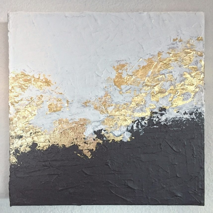 Wondrous Gold Canvas Art 8 Canvas Wall Art Gold Coast Like This With Glitter Canvas Wall Art (View 14 of 15)