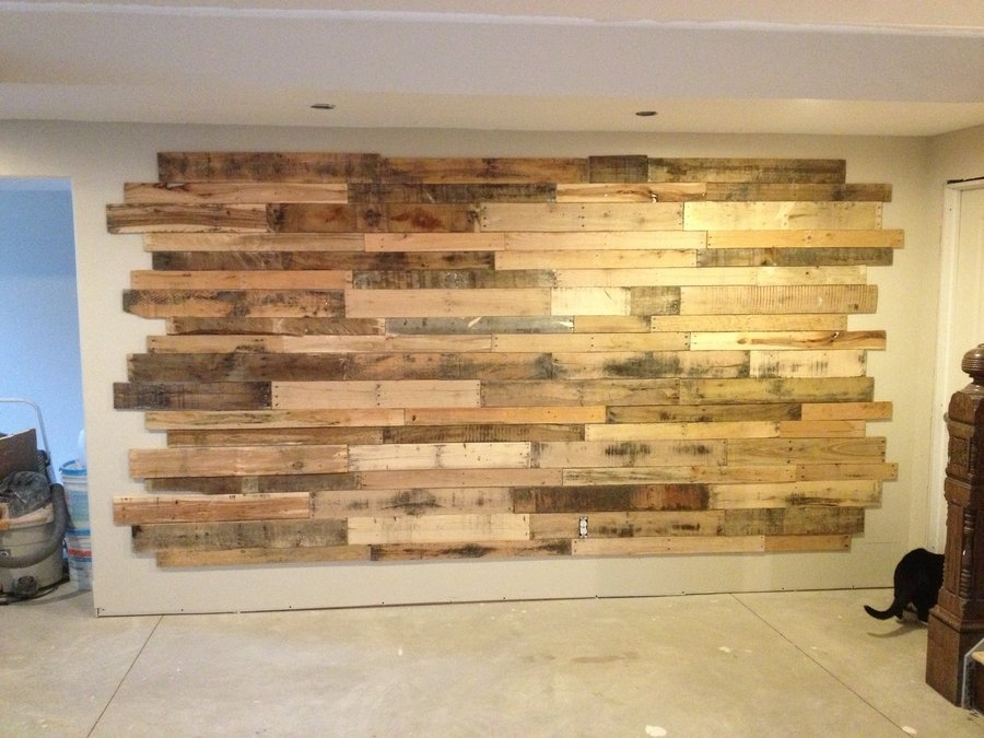Wood Accent Wall Averagejoe Homerefurbers Home – Dma Homes | #69168 Regarding Reclaimed Wood Wall Accents (View 9 of 15)