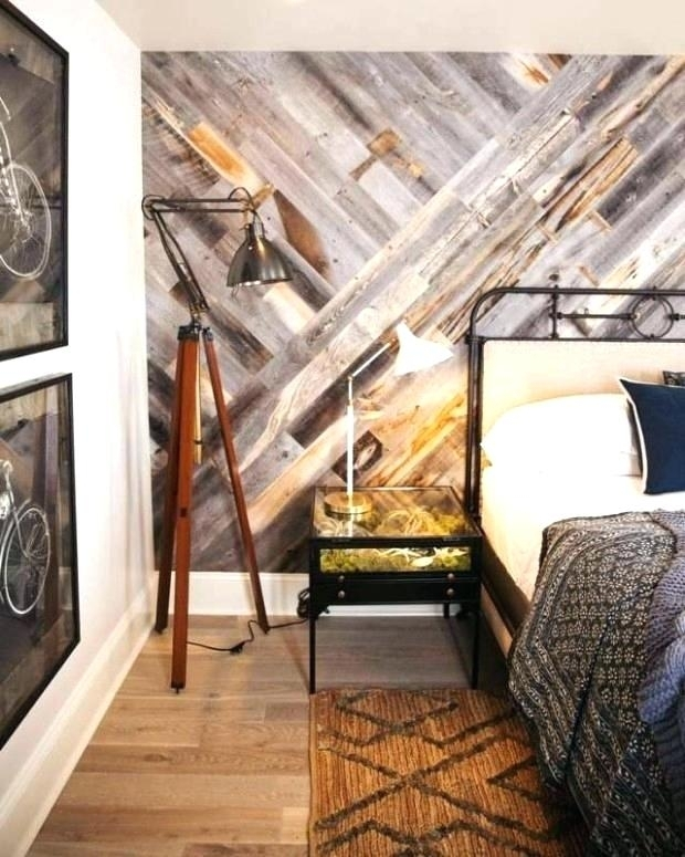 Wood Accent Wall In Bedroom Reclaimed Wood Wall Bedroom Source A For Reclaimed Wood Wall Accents (Image 14 of 15)