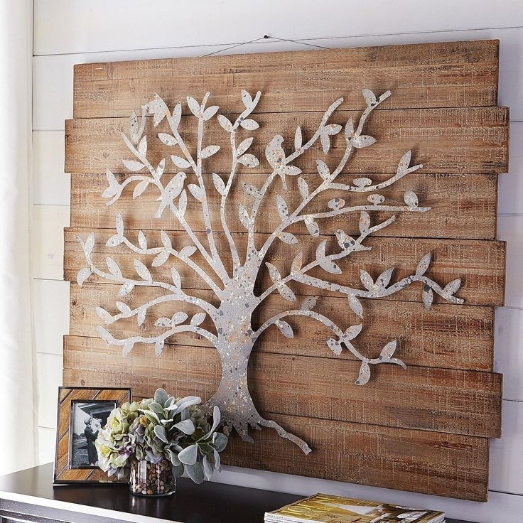 Wood And Iron Wall Decor Brown Metal Wall Art Wall Art Sculpture Throughout Metal Wall Accents (View 14 of 15)