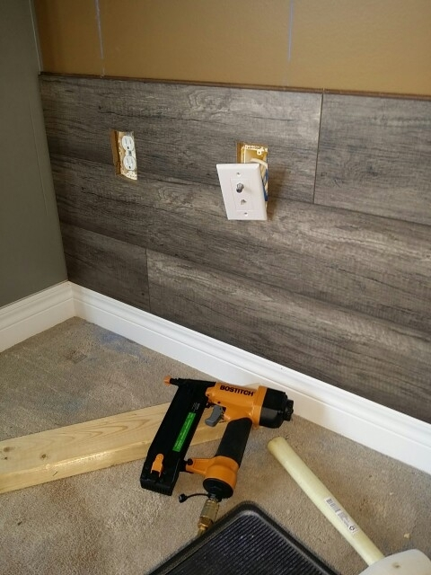 Wood Laminate Accent Wall | Living Room Remodel | Pinterest | Wood Regarding Wall Accents With Laminate Flooring (View 2 of 15)
