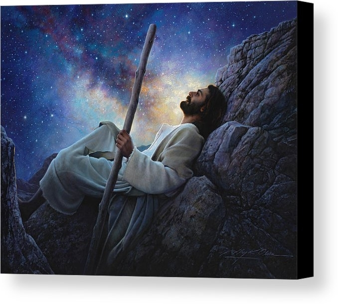 Worlds Without End Canvas Print / Canvas Artgreg Olsen Inside Jesus Canvas Wall Art (Image 15 of 15)